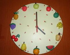 Rel�gio de cozinha frutas