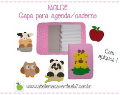 MOLDE PARA CAPA DE AGENDA E CADERNO EVA