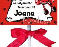 Convite Pirulito Joaninha