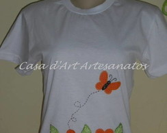 CAMISETA CUSTOMIZADA COM APLIQU�
