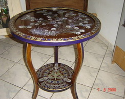 Mesa com tampo girat�rio/petisqueira