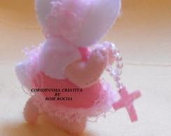 Lembrancinha de Nascimento menina rezando