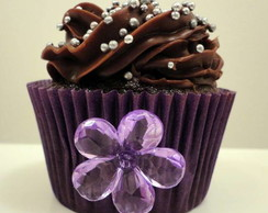 Cupcake Purple Flower (Grande)