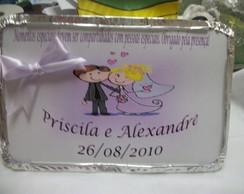 Marmitinha personalizada para casamento