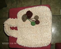 bolsa de barbante e linha em croch�