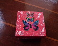 caixa decoupagem borboleta