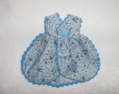 Avental Azul Floral