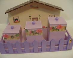Kit de higiene do beb� - tema casinha