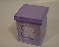 Caixa com porta foto - modelo borboleta