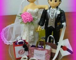 Topo de bolo - Casamento Vanessa e Ruy