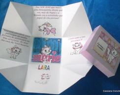 Convite Caixa Surpresa da Gata Marie