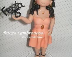 Topo de bolo debutante
