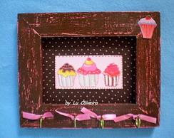 Porta Bijuterias ou Chaves Cupcake