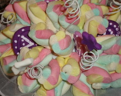 Buqu� de marshmallows roxo personalizado