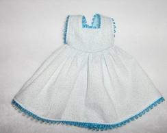 Avental azul claro