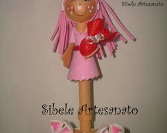 caneta decorativa coelhinha rosa