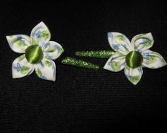 Fivela (mini bico de pato) flor