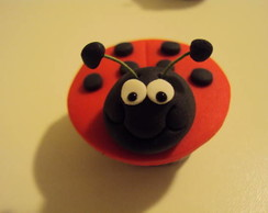 Mini cupcake pasta americana, joaninha