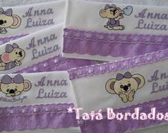 Kit Toalhas Infantis Lilica-Branco/Lil�s