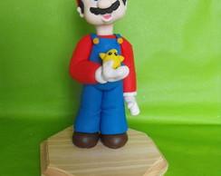 Topo de bolo Mario Bros