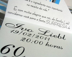 Convites de  60 Anos - Ivo