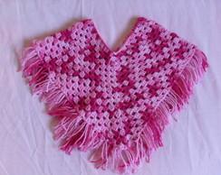 Poncho infantil em croch�