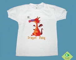 T-Shirt Beb� e Infantil DRAGON BABY RED