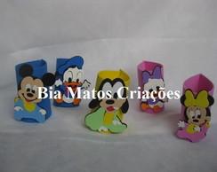Centro de mesa Mickey e Minnie Baby