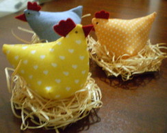 galinhas no ninho