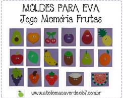 MOLDE - RISCO JOGO MEMORIA FRUTAS