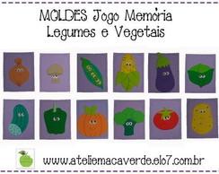 MOLDE - RISCO JOGO MEM�RIA LEGUMES VEGET