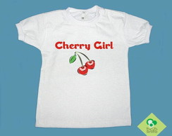 T-Shirt Beb� e Infantil CHERRY GIRL