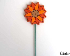 Flor Decorativa de Papel Mach�