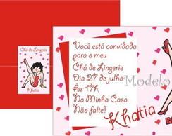 Convite Ch� de Lingerie Betty Boop