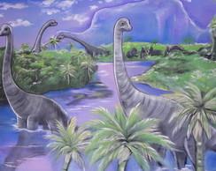Painel em tecido Dinossauros