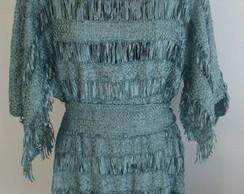 vestido de fitas/vendido