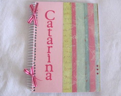 "Caderno decorado ""Romantico"""