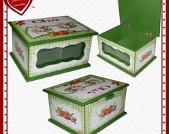 Caixa de ch� dupla morangos