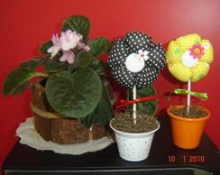 Flores em tecido aromatizadas