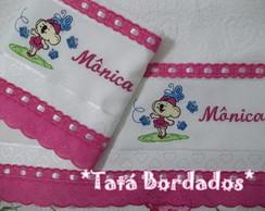 Jg de Toalhas Lilica - Branco/Pink