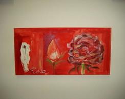 mini tela rosas