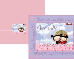 Convite Pucca Rosa e Lil�s
