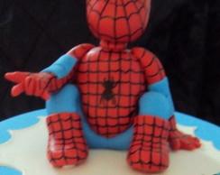 Homem Aranha - Topo de bolo em Biscuit!