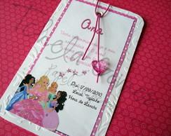 Convite Marcador de Livros - Barbie