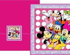Convite Turma do Mickey Lil�s