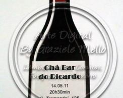 Convite Ch� Bar - Garrafa de Vinho