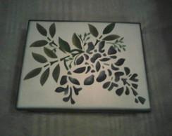 caixa de madeira pintada a m�o