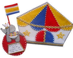 convite em feltro do Circo