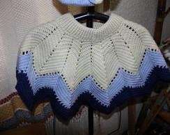 Pelerine em croch�