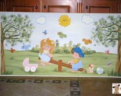 Painel crian�a no playground
